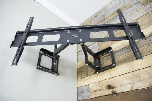 "Full Motion Articulating Corner Wall TV Mount Bracket for 37"" to 63"" Flat Screen"