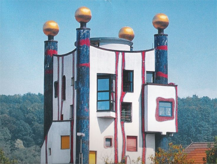 HundertwasserBeautiful House, Wereldkla Ideeën, Fantastic Architecture, Arquitectura Curiosas, Mimetic Architecture, Friedensreich Hundertwasser, Art Hundertwasser, Hundertwasser Art, Architecture En