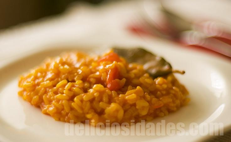 Arroz de los montes. El arroz de los montes es el nombre con el que se conoce en la comarca de Málaga a un guiso de conejo (o pollo) y arroz caldoso. Este plato es muy típico en las ventas tradicionales del triángulo que delimita la parte baja del Guadalmedina: Almogía, Casabermeja y Málaga.    #receta #recipe #arroz #rice #spanishcooking #veggie #vegetarian #vegetariano