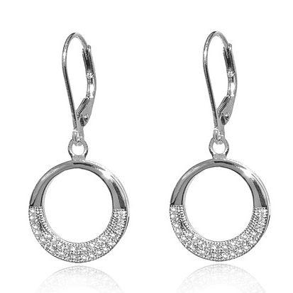 Elegantní kruhové náušnice Silvego ze stříbra JJJE0112