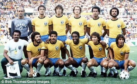 1982 Brazil Magic XI.   Valdir Peres, Leandro, Oscar, Falcao, Luisinho, Junior, Cerezo, Socrates, Serginho, Zico, Eder....I just watched in awe