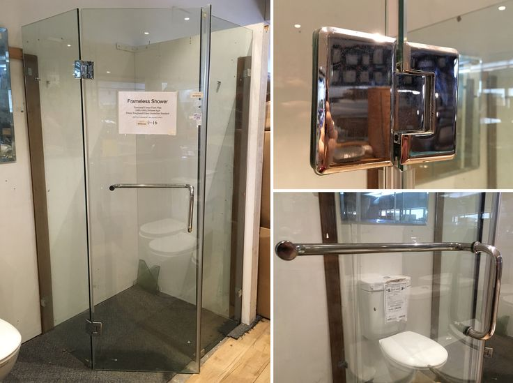 Get these modern, frameless shower screens plus shower bases, basins, vanities and all your other bathroom DIY needs from the Home Improvement and Design Supplies Online Auction