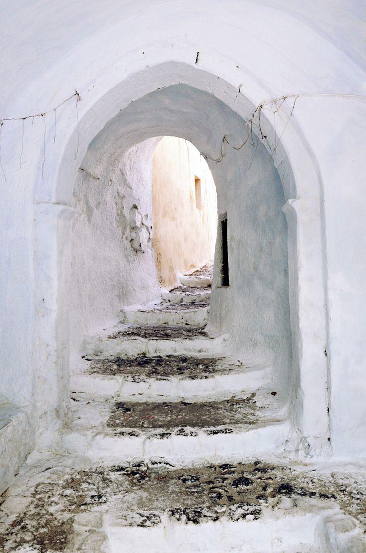 Pyrgos castle entrance - Santorini, Greece