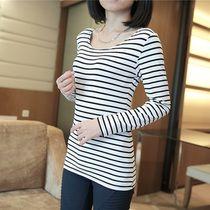 Early spring 2014 new spring Korean female long-sleeved t-shirt striped