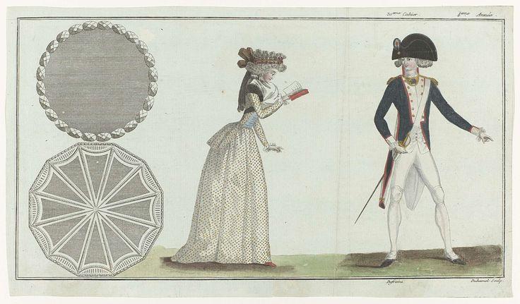 Magasin des Modes Nouvelles Françaises et Anglaises, 1 octobre 1789, Pl.  1,2 et 3, A.B. Duhamel, Buisson, 1789