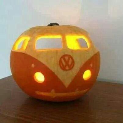 VW bus pumpkin - way cool!