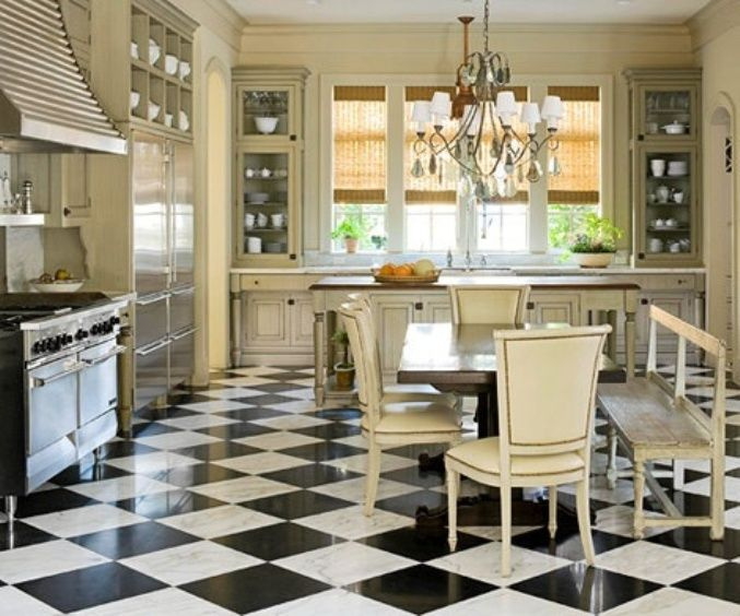 black and white tile floor kitchen design pictures remodel decor and ideas