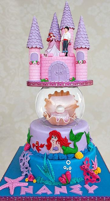 778 best images about cake decoration ideas girly girls on for Ariel cake decoration