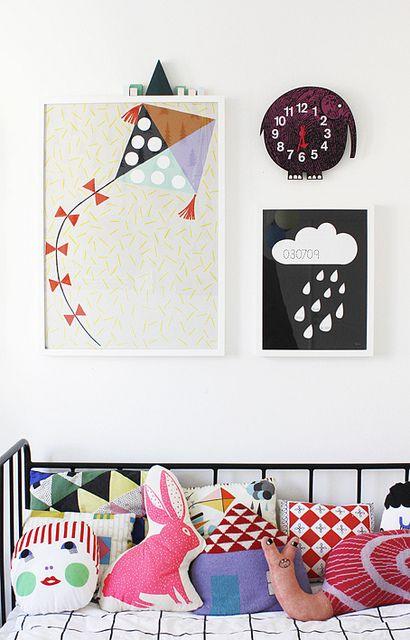 Varpunen Kids Room by Kenziepoo, via Flick kite & elephant