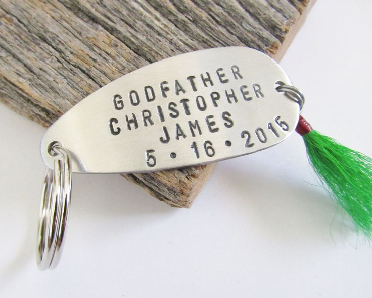 Godparent Keychain Gift For Godparents Gift For: Godfather Gift For Godfather Keychain Fishing Lure New