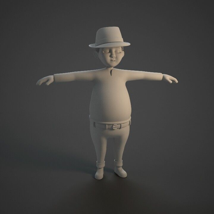 3D character modelling. Concept Character by Rahadyan Pradipta, modeller by Rahadyan Pradipta.