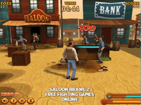 Saloon Brawl 2 free fighting games online Edit Title Free animated gif pictures