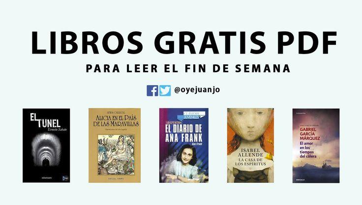 ¿Se viene el fin de semana y no tienes nada para leer? Te presentamos cinco libros gratuitos en formato PDF para acompañar tus días de descanso.