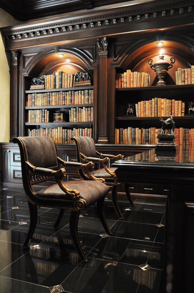 Luxury Home Library Design: High-end Styling In A Masculine Study With Custom Built-in