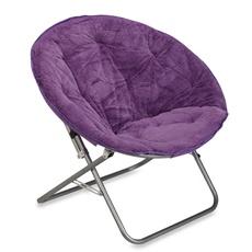 Rabbit Faux Fur Saucer Chair Purple Purple