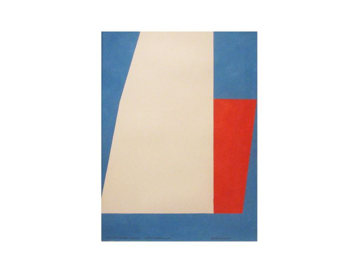 John Mitchell, Two Juxtaposed Shapes I, dry pigment on paper, 37 x 28.5 cm | Quercus Gallery