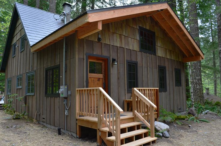 23 best board and batten cabin designs images on pinterest for Board and batten cabin plans
