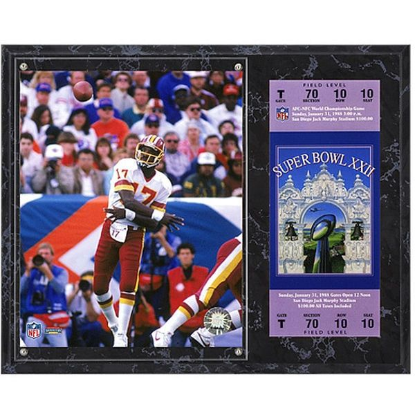 "Doug Williams Washington Redskins Fanatics Authentic 12"" x 15"" Super Bowl XXII Sublimated Plaque with Replica Ticket - $39.99"