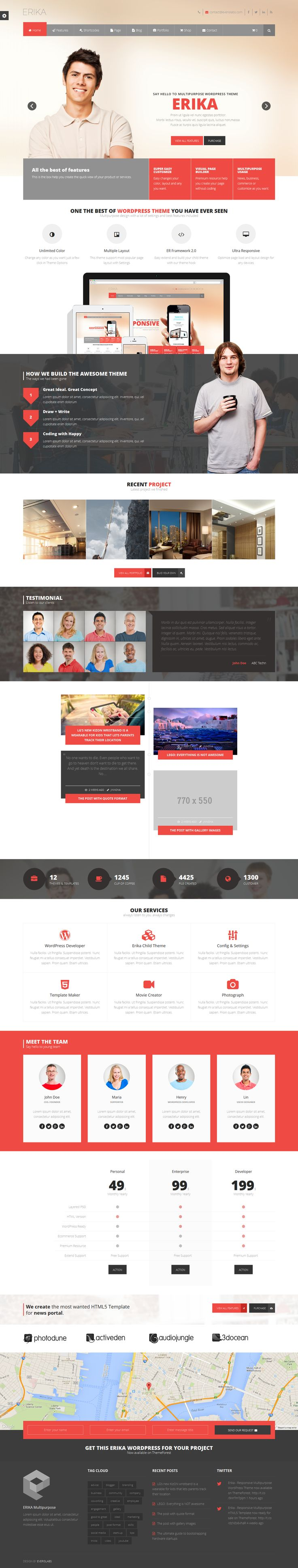 #Template #Responsive #Parallax #Wordpress, #joomla, #Magento, #Prestashop