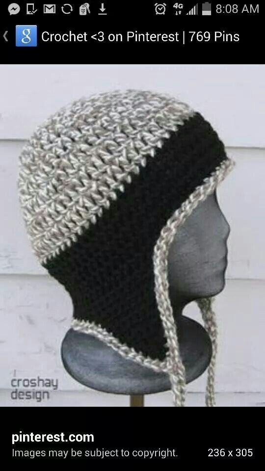 Free Crochet Pattern Mens Hat Ear Flaps : Pin by G?lenya ?zden on crochet and knit Pinterest Hats