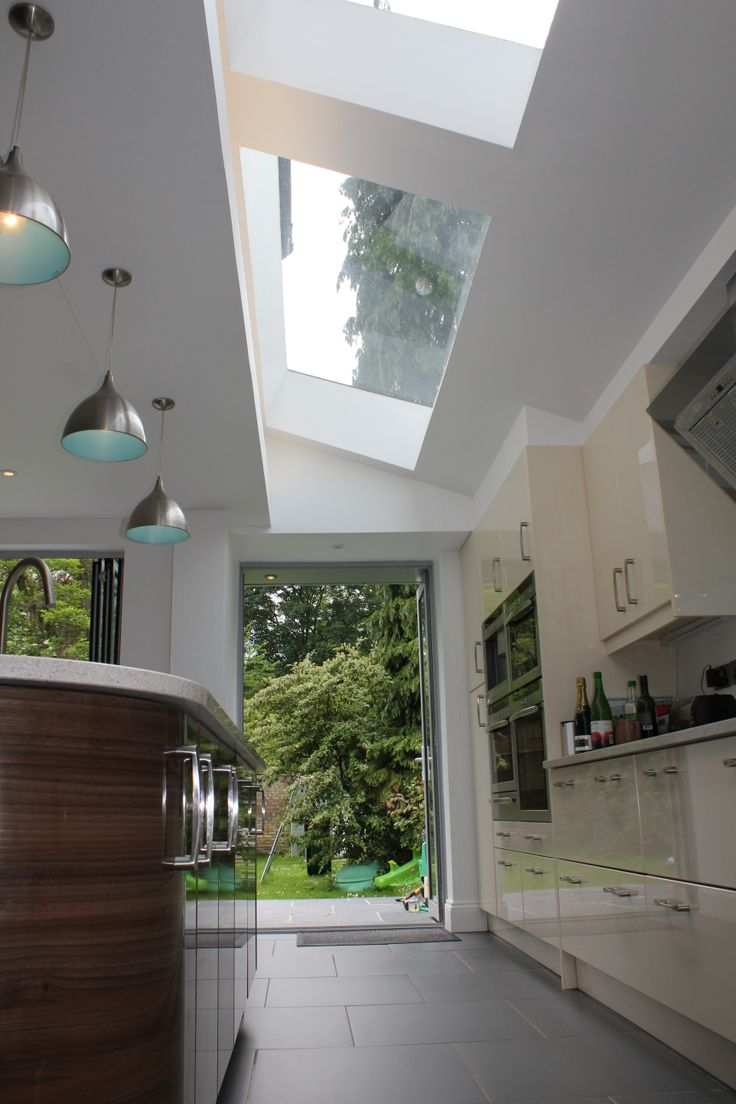 Off white kitchen with double rooflight by chadwickdryerclarke