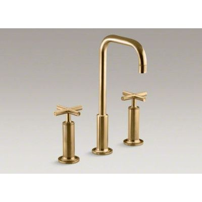 Kohler Purist Widespread Bathroom Faucet with Double High Cross Handles - K-14408-3 | Wayfair