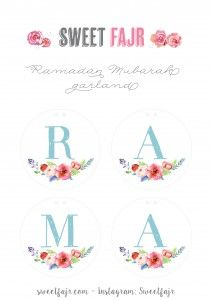 Ramadan crafts! Free printable Ramadan Mubarak Garlands
