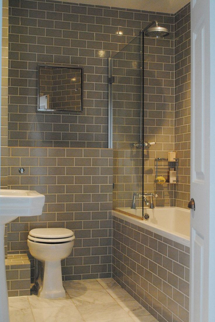 Bathroom grey tiles