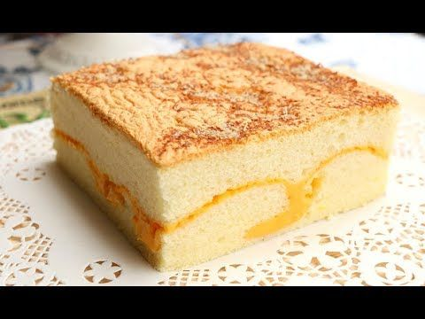 How To Make Soft Cheese Sponge Cake   Super Fluffy Castella Cake With Cheese - 古早味起司蛋糕 現烤蛋糕 棉花蛋糕 - YouTube