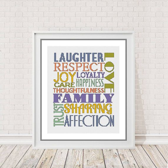 Create Your Own Personalised Word Cross Stitch by PeppermintPurple