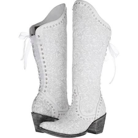 white cowboy boots for wedding - Google Search