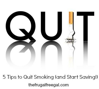 5 Tips to Quit Smoking (and Start Saving!) #thefrugalfreegal thefrugalfreegal.com more info visit: pinterest.com/dkelley9699