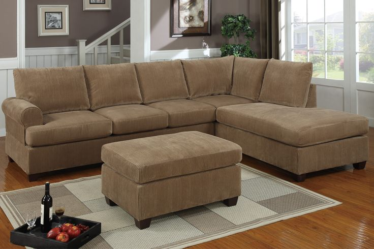 Long Fabric Sofas Sectional Couch Match 2pc Set Sofa