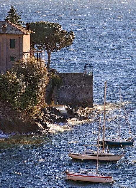 Moored Boats, Varenna, Lago di Como , province of Como , Lombardy region Italy