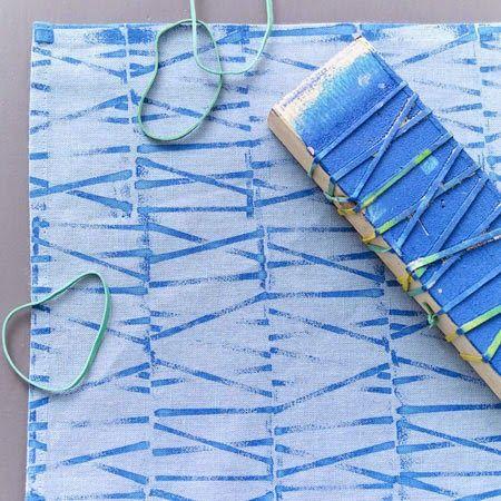 Faça Você Mesmo - Estampas para tecido com carimbos