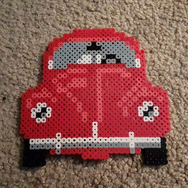 VW Beetle perler beads by plurnt_perlers