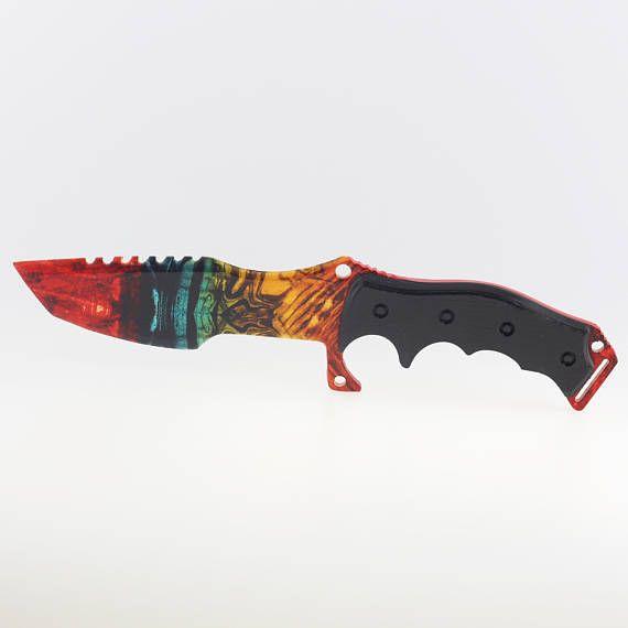 CS huntsman knife Marble Fade Counter strike gift for gamer