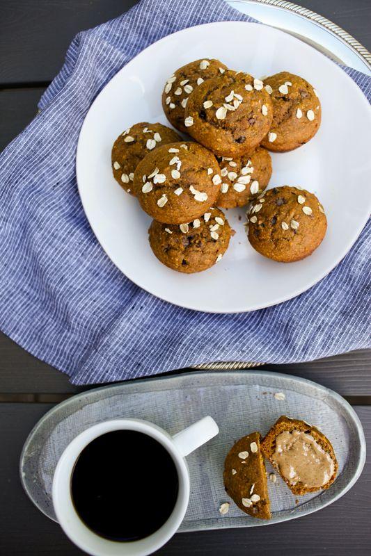 Whole Grain Oat Pumpkin Muffins