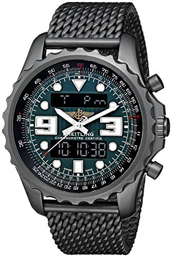 Breitling Men's M7836522-L521 Professional Chronospace Black Stainless Steel Quartz Watch View Price Black stainless steel watch featuring bidirectional