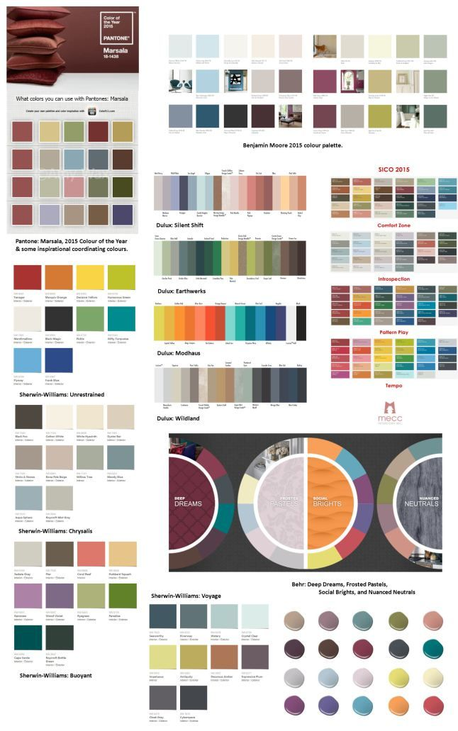 the 2015 colour story | @meccinteriors | design bites | | #colourtrends #2015colourtrends