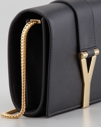 Saint Laurent Mini Y Ligne Pochette Crossbody Bag, Black - Neiman Marcus