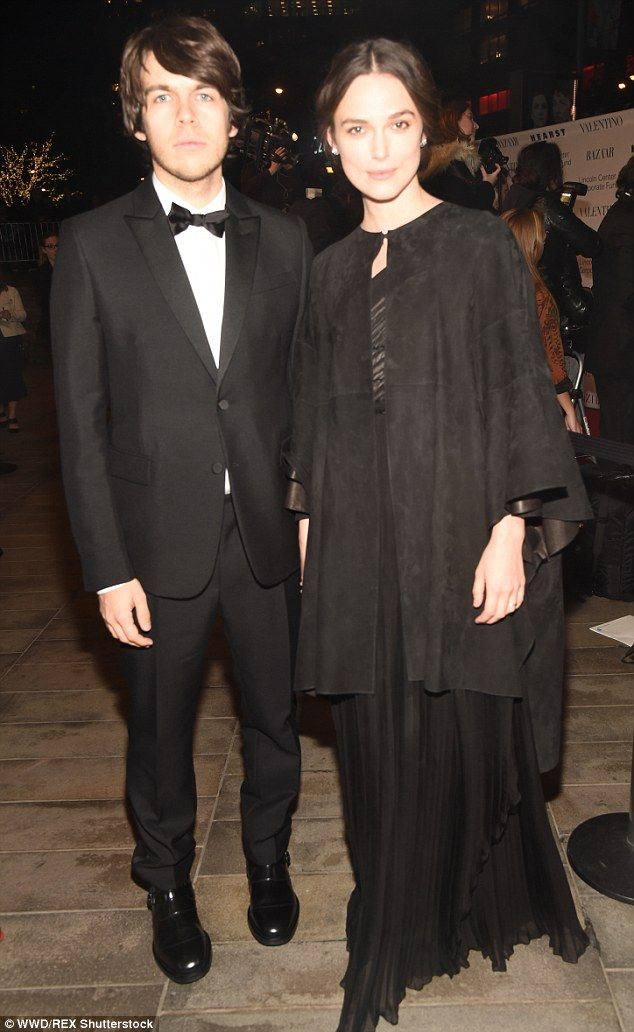 Style star: Keira Knightley oozed heaps of elegance as she arrived at New York's Lincoln Center for the An Evening Honoring Valentino with her husband James Righton on Monday