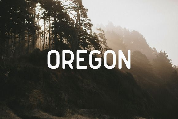 Oregon Font by Mark van Leeuwen on @creativemarket