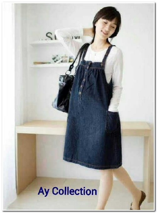 Dress Alya & Inner, Denim, Fit XL, Rp 75.000 (min 2 pcs)