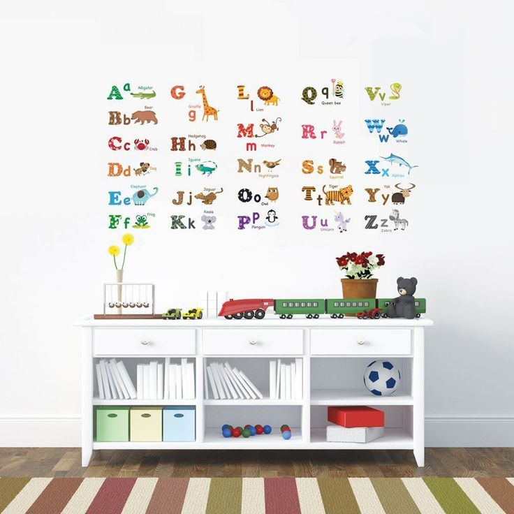 Decowall Wall Decals Alphabet Animal Removable Nursery DIY stickers 1308 Kid Art #DecowallDW1308 #ModernFunnyEducational