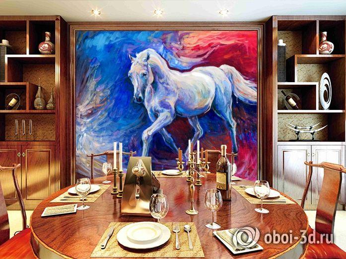 Купить обои с лошадью маслом на стену, они идеально подойдут для дизайна любой комнаты: гостиной, спальни, зала, детской.