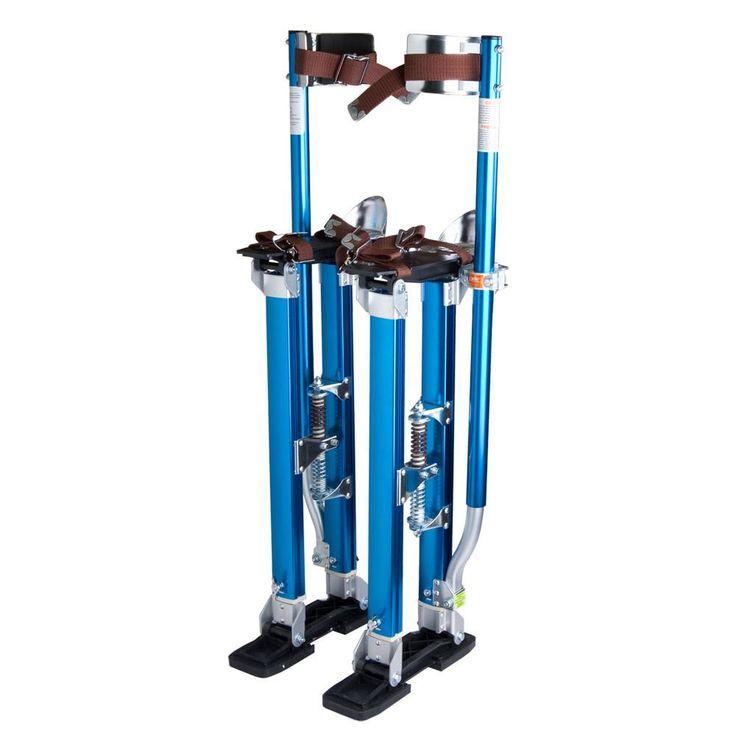 "24"" - 40"" Adjustable Aluminum Drywall Stilts Blue"