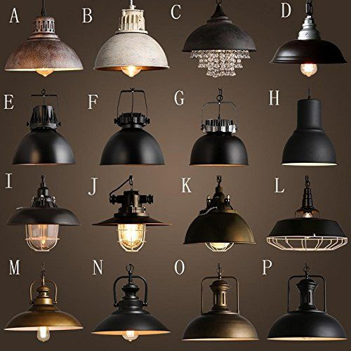 KHSKX Vintage industrial lighting loft caf bar bar iron American country cover singlehead dining room chandelier G -- Click on the image for additional details.