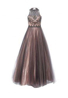 Платье от To be Bride. Юбка укороченной длины. Пайетки-чешуйки и бисерный рисунок в виде кораллов...