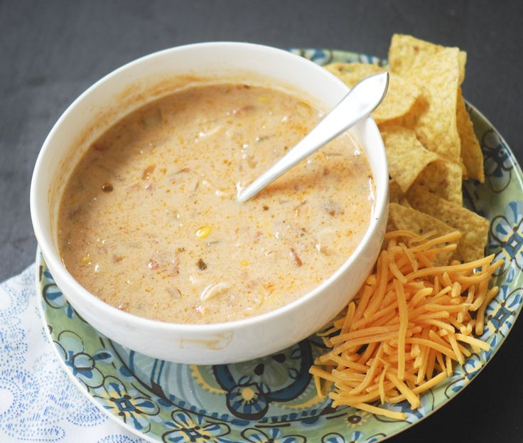 Trisha Yearwood's Chicken Tortilla Soup   ◾3 tablespoons butter ◾1 teaspoon garlic ◾1 medium onion (chopped) ◾2 tablespoons flour ◾3 14oz cans chicken broth ◾4 cups half-and-half (or low fat millk) ◾1 cup prepared salsa ◾4 chicken breasts (boneless skinless (already cooked)) ◾1 15oz can kidney beans ◾1 15oz can black beans ◾1 15oz can corn ◾2 teaspoons ground cumin ◾1 package fajita seasoning ◾1 15oz can cream of chicken soup